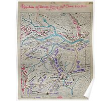 Civil War Maps 1459 Position of Union Army 30th June 10 1 2 am and 2 1 2 pm Poster