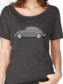 1960 Volkswagen Beetle Sedan - Anthracite Women's Relaxed Fit T-Shirt