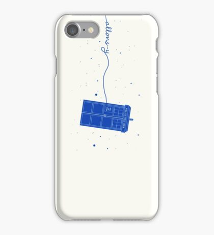 Allons-y to the TARDIS (in blue) iPhone Case/Skin