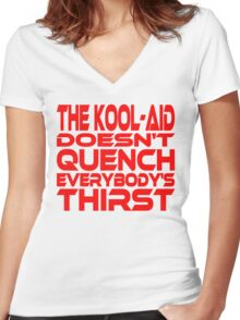 Thirsty? Women's Fitted V-Neck T-Shirt