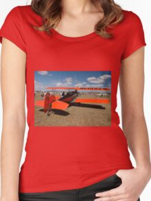 Fleet Biplane @ Festival Of Flight 2008 Women's Fitted Scoop T-Shirt