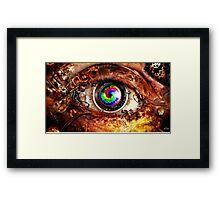 Robotic Eye Framed Print