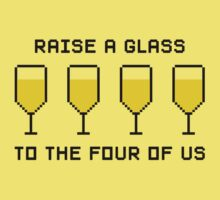 Raise a glass to the four of us Baby Tee