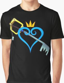 Kingdom Hearts - Heart and Sword Graphic T-Shirt