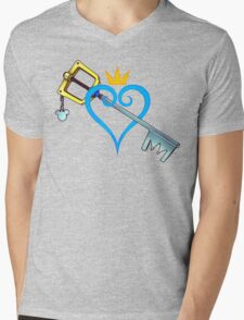 Kingdom Hearts - Heart and Sword Mens V-Neck T-Shirt