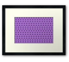 The Haunted Mansion Wallpaper - Light Purple  Framed Print