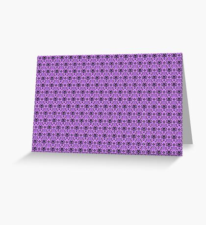 The Haunted Mansion Wallpaper - Light Purple  Greeting Card