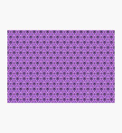 The Haunted Mansion Wallpaper - Light Purple  Photographic Print
