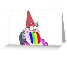 Gravity Falls- Barfing Gnome Greeting Card