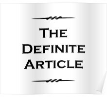 The Definite Article Poster