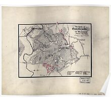 Civil War Maps 1735 The battle of Chancellorsville or ''The Wilderness'' Saturday May 2nd 1863 Poster