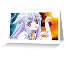 Neko Anime Girl Greeting Card