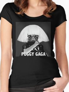 PUGGY GAGA Women's Fitted Scoop T-Shirt