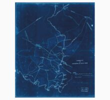 Civil War Maps 0382 Fords on Occoquan and Bull Run Northern Virginia Inverted One Piece - Short Sleeve
