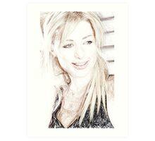 Paris Hilton - Colored Pencil Art Art Print