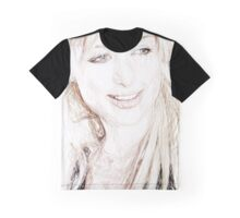 Paris Hilton - Colored Pencil Art Graphic T-Shirt