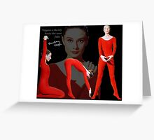 AUDREY keeping fit Greeting Card