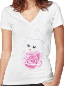 Inside my little heart Women's Fitted V-Neck T-Shirt