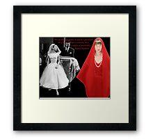 Audrey & Givenchy Framed Print