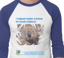 I helped Make a Home for Koala Clancy - new Men's Baseball ¾ T-Shirt