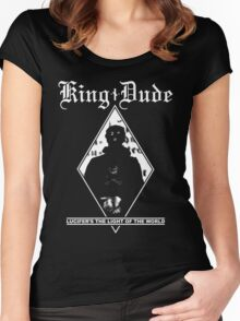 King Dude (Masked | LTLOTW) Women's Fitted Scoop T-Shirt