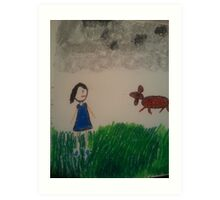 oil pastel drawing Art Print