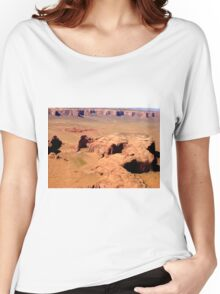 Aerial of Monument Valley, Arizona Women's Relaxed Fit T-Shirt