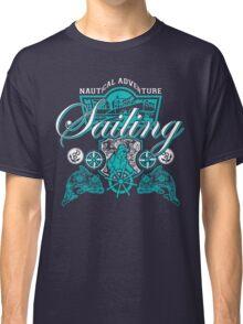 Sailing Adventure Blue Graphic Nautical Classic T-Shirt
