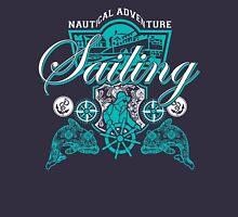 Sailing Adventure Blue Graphic Nautical Unisex T-Shirt