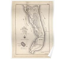 Civil War Maps 1666 Sketch of vicinity of Fort Fisher surveyed under the direction of Brvt Brig Gen C B Comstock Chief Engineer Poster