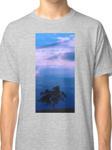 Tree in a night sky Classic T-Shirt