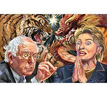 Crouching Bernie, Hidden Hillary Photographic Print