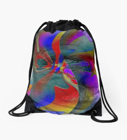 Stucco Look A Like Abstract Brilliance  Drawstring Bag