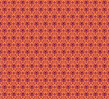 The Haunted Mansion Wallpaper - Orange/Red by madradmitchell
