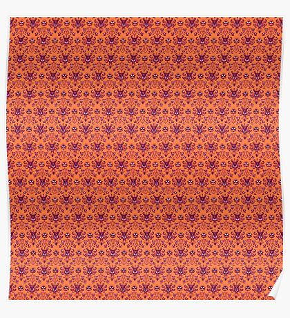 The Haunted Mansion Wallpaper - Orange/Red Poster