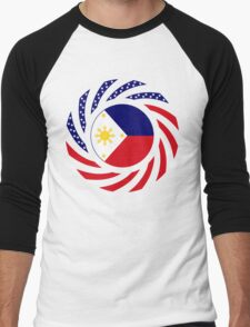 Filipino American Multinational Patriot Flag Series 1.0 Men's Baseball ¾ T-Shirt