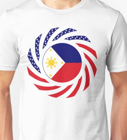Filipino American Multinational Patriot Flag Series 1.0 Unisex T-Shirt