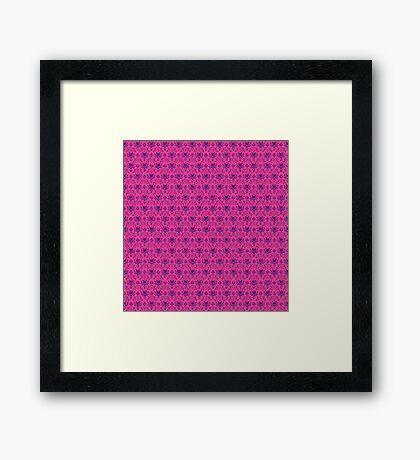 The Haunted Mansion Wallpaper - Pink/Violet Framed Print