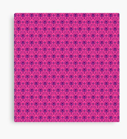 The Haunted Mansion Wallpaper - Pink/Violet Canvas Print