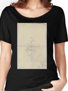 Civil War Maps 0207 Blue Springs Tennessee Women's Relaxed Fit T-Shirt