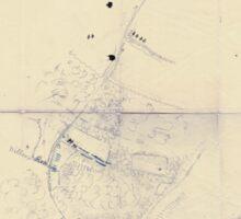 Civil War Maps 0207 Blue Springs Tennessee Sticker