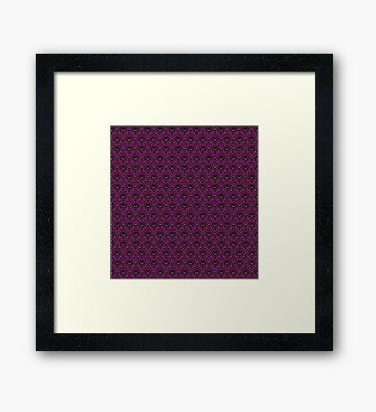 THEE Haunted Mansion Wallpaper - Deep Purple Framed Print