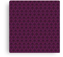 THEE Haunted Mansion Wallpaper - Deep Purple Canvas Print