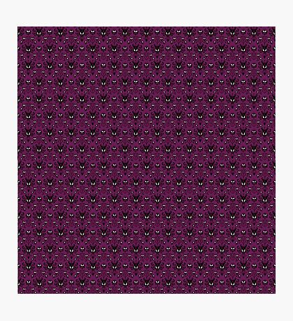 THEE Haunted Mansion Wallpaper - Deep Purple Photographic Print