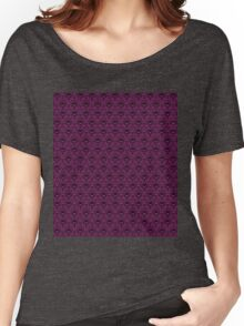 THEE Haunted Mansion Wallpaper - Deep Purple Women's Relaxed Fit T-Shirt