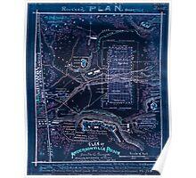 Civil War Maps 1301 Plan of Andersonville Prison Sumter Co Georgia Inverted Poster