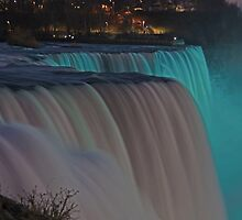 American Falls At Night | Niagara Falls, New York by © Sophie W. Smith