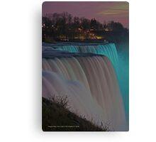 American Falls At Night | Niagara Falls, New York Canvas Print