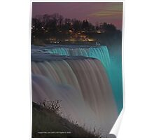 American Falls At Night | Niagara Falls, New York Poster