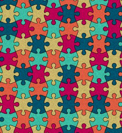Jigsaw Puzzle Pattern in Festive Color Palette Sticker